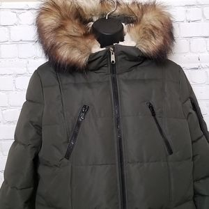 NWOT Nautica faux fur and Sherpa collar parka